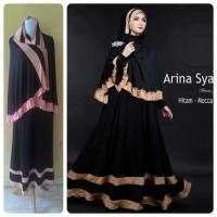 Baju Gamis Terbaru Arina Hitam Mocca (murah/cantik/terlaris/modis)