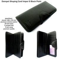 Dompet kartu murah shopping card import S black point