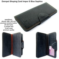 Dompet kartu murah shopping card import S blue shapire