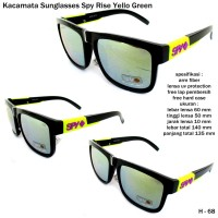Kacamata/sunglasses/eyewear spy rise full set-yellow green