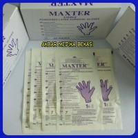 Sarung Tangan Steril Maxter Sterile Surgical Gloves No.7,5 ( Eceran )