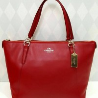 JUAL TAS COACH AVA TOTE ZIP RED ORIGINAL ASLI