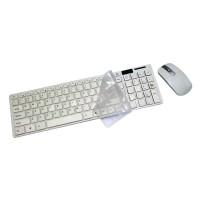 Mediatech Ultra Thin Keyboard + Mouse Wireless Hk 3600 Putih