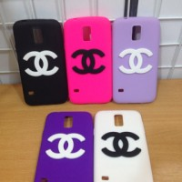 Phone Case Rubber Chanel for Samsung Galaxy S5