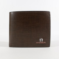 DOMPET KULIT PRIA TIDUR IMPORT BRANDED | AIGNER 17A-2619 COFFEE