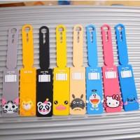 Luggage Tag Panjang Karakter Kartun Kitty, Totoro, Doraemon