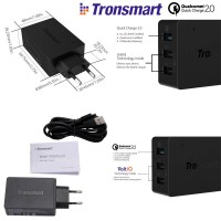 Tronsmart Quick Charge 2.0 42W 3-Port Charger WC3PC Qualcomm Certified