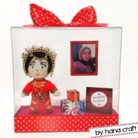 boneka hadiah untuk ibu tersayang ukuran 16x16x4 cm
