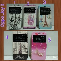 Flipcover Oppo Joy 3 / Casing Handphone Oppo Joy 3/ Flip Cover Paris