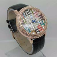 Jam Tangan Wanita Chopard Leather Full Diamond Num MKFT