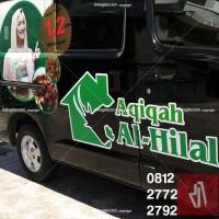 branding stiker mobil, granmax al-hilal sticker print
