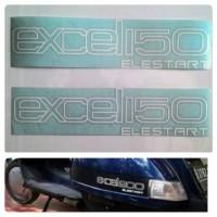 Vespa Cutting Sticker Vespa Excel Elestart Putih 150