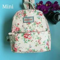 tas ransel mini bag cath kidston floral flower bunga original white