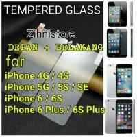 TEMPERED GLASS PREMIUM IPHONE 4 / 4s Gorilla Glass DEPAN BELAKANG