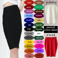 Pencil Mini Skirt Rok Span Pendek / Mini