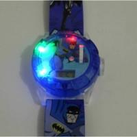 Jam Tangan Anak Batman Hologram, Senter, Proyektor, Laser, Music AJP37