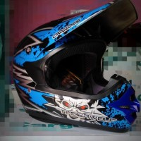 harga Helm Trail Motor Cross Timber Wolf Blue Tokopedia.com