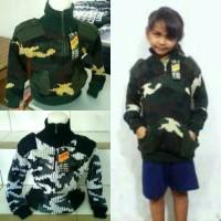 Sweater Loreng Anak / Switer Anak / Jaket Loreng Anak / Jaket Army Anak