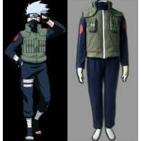 Kostum Costume Kakashi Hatake Naruto Rompi Kaos Celana Vest Import