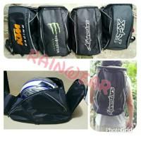harga TAS RANSEL HELM logo FOX.Monster energy.KTM.Alpinestars Tokopedia.com