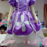 Dress sofia the first Gaun ulang tahun sofia Baju pesta anak perempuan