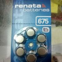 Baterai Kancing (battery) Zinc Air ZA 675 ZA675 AG13 PR44 LR44 Renata