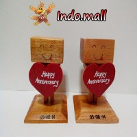 Jual Boneka Kayu Danbo Ulang Tahun Kado Valentine Couple Romantis Murah