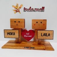 Jual Boneka Kayu Danbo Kado Valentine Couple Anniversary Birthday Romantis Murah