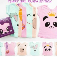 Kazel Atasan / Tee Bayi / Tshirt Girl Panda Edition