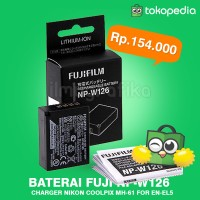 Baterai / battery FUJI FUJIFILM NP-W126 FinePix X-Pro1 X-E1 X-M1 X-A1