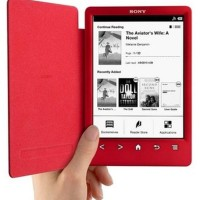 Sony PRS T3, BARU, Red, Sony Reader dengan flip cover case