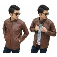 harga Jacket Leather Biker Brown   jaket kulit cowok   jaket motor kulit  Tokopedia.com 536f043d51