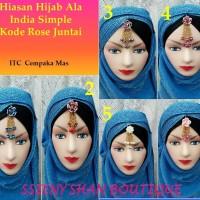 Hiasan Hijab Ala india simple kode rose juntai 1