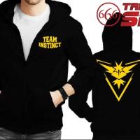 Jual Jaket Hoodie zipper - POKEMON GO : Team Instinct - BLACK Murah