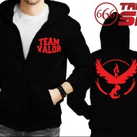 Jual Jaket Hoodie zipper - POKEMON GO : Team Valor - BLACK Murah