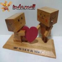 harga Boneka Kayu Danbo Nembak Cewek Kado Valentine Romantis Couple Unik Tokopedia.com