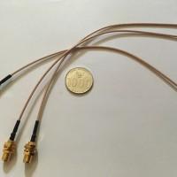 "RP-SMA Female to uFL / u.FL / IPX / IPEX RF Coax RG178 Pigtail 8"" 20cm"