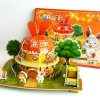 3D Puzzle Toy| Puzzle 3 Dimensi Rabbit House | Toko Mainan Online