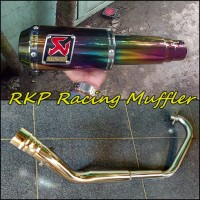 Knalpot Akrapovic Lorenzo Rainbown Full System Untuk Motor CBR250R