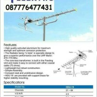 harga Paket 1 Antena TV DIGITAL Yagi HD U-19 + 2 Tiang + 20m kabel Tokopedia.com