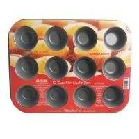 Jual Alma Bakeware 12 Cup Mini Muffin Pan - Grey Murah