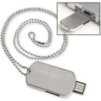 Dog Tag Usb 2.0 Flash Drive - 16gb Silver