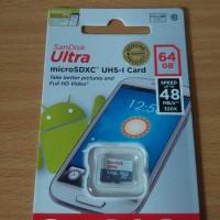 harga Sandisk Ultra MicroSD UHS-l Card 64GB Speed 48Mbps Class 10 Original Tokopedia.com