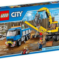 Lego 60075 Excavator and Truck City Construction Original Claw Tipper