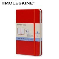 Moleskine Art Plus Sketchbook Pocket Plain - Red Hard Cover