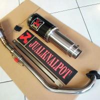 Jual Knalpot Jupiter MX Akrapovic GP Lorenzo Carbon Vinyl Las Cacing Murah