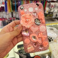 anna sui peach color type hp blinkcase swarovski bling oppo samsung lg