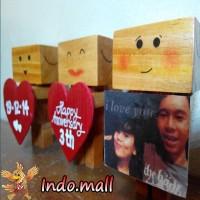 Jual Boneka Kayu Danbo Kado Ultah Valentine Couple Anniversary Romantis Murah