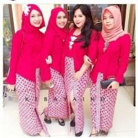 Kebaya Batik Set Jumuputan / Kebaya RnB Merah
