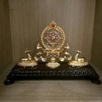 Roda Dharma Flower Motif + Sepasang Rusa